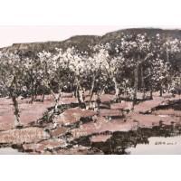 水粉-树林
