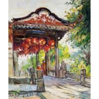 五里桥亭(油画)