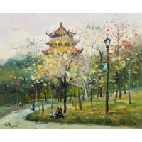 西湖公园初夏(油画)