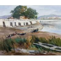 洛阳桥畔(油画)