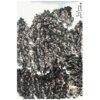秋树丹峰起飞泉