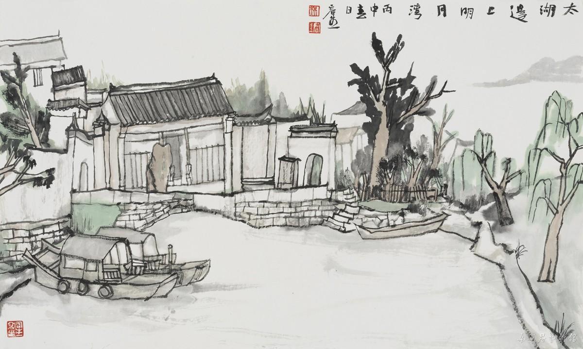 苏州现代园林手绘线稿