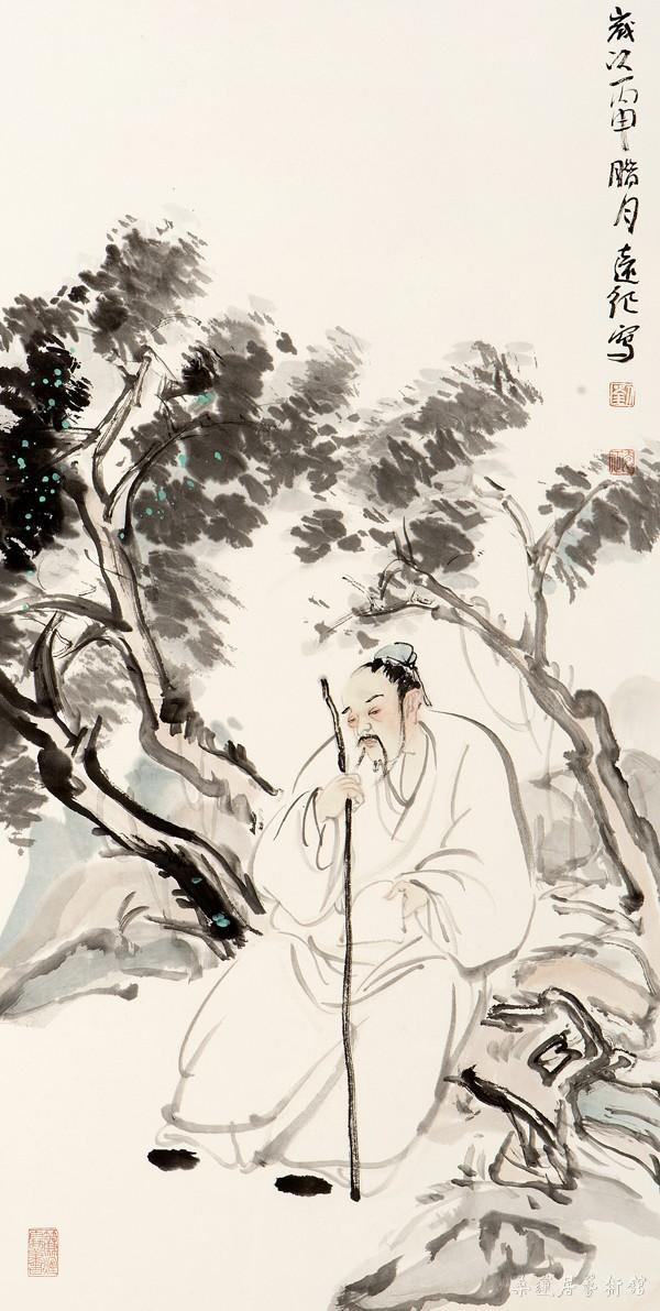 W310 刘远征 高士图 70×36cm 缩图