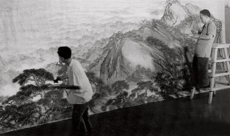 1959年傅抱石与关山月合作《江山如此多娇》副本副本