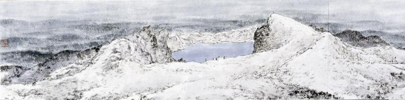 傅抱石 1961年 天池林海图卷 副本副本