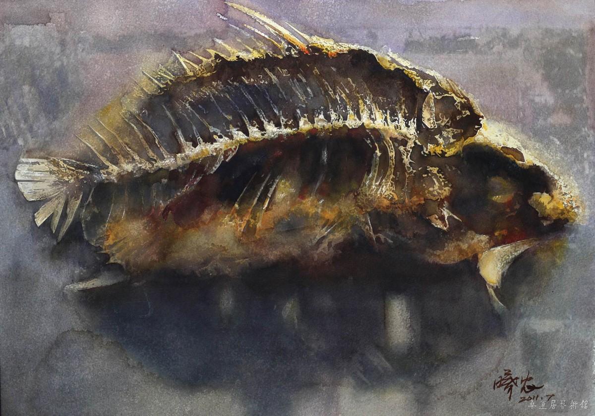 《鱼》水彩画43.5X30.5cm 黄曦农a 缩图