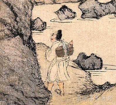 元 王蒙 《葛稚川移居图》轴 设色纸本 139×58cm 故宫博物院藏 局部6