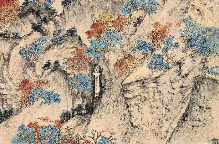 元 王蒙 《葛稚川移居图》轴 设色纸本 139×58cm 故宫博物院藏 局部10 缩图