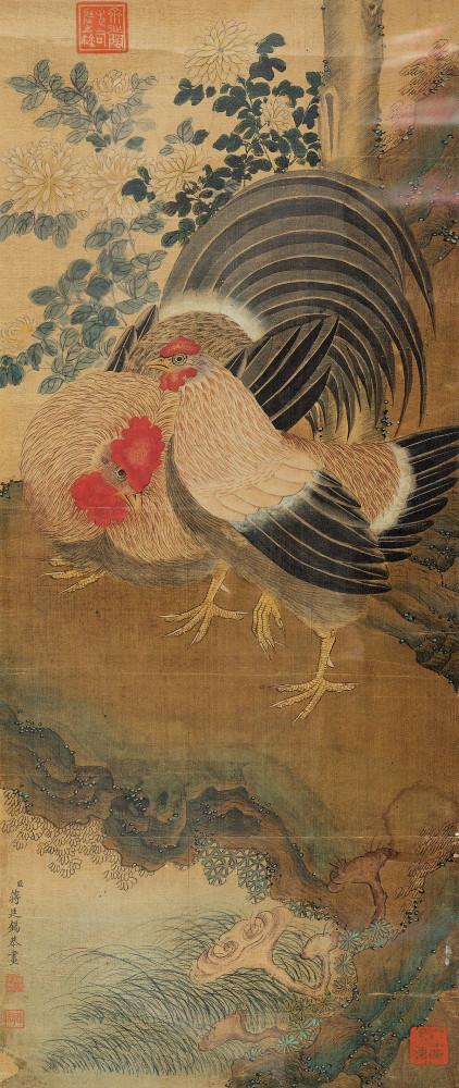 蒋廷锡 大吉 镜心 南京博物院藏