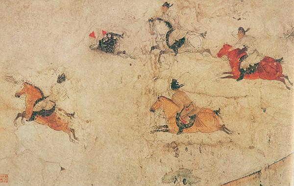 唐 马球图 壁画 229x688cm 陕西历史博物馆藏 副本缩图