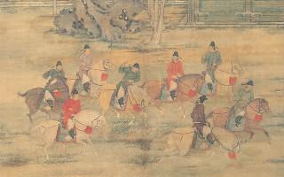 古画中的娱乐:击球狩猎、下棋滑冰