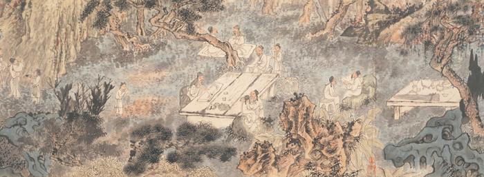石涛 西园雅集图卷 36.5×328cm 上海博物馆藏 局部3缩图