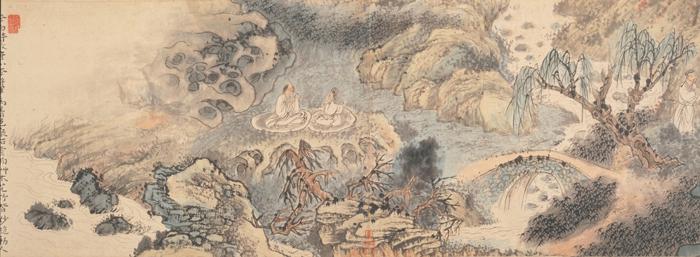 石涛 西园雅集图卷 36.5×328cm 上海博物馆藏 局部4缩图