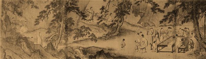 南宋 马远 西园雅集图卷 绢本设色 29.3×302.3cm 美国纳尔逊艾金斯博物藏 副本3缩图