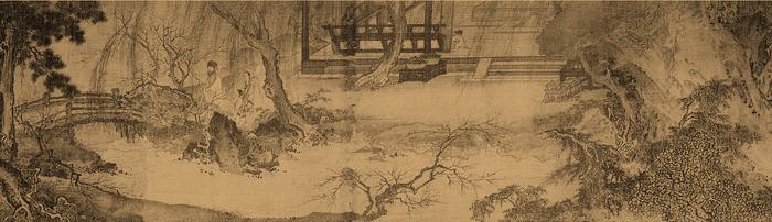 南宋 马远 西园雅集图卷 绢本设色 29.3×302.3cm 美国纳尔逊艾金斯博物藏 副本2缩图