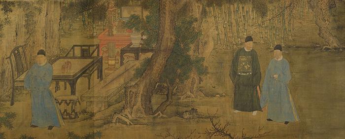 明 谢环 杏园雅集图卷 37 x 243.2 cm 纽约大都会博物馆藏 副本1 缩图