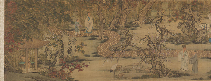 明 谢环 香山九老图 绢本设色 29.8×148.2厘米 美国克利夫兰美术馆藏 局部2 缩图