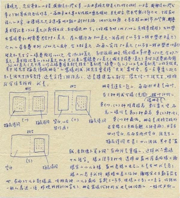 华人德书札中的装裱图示