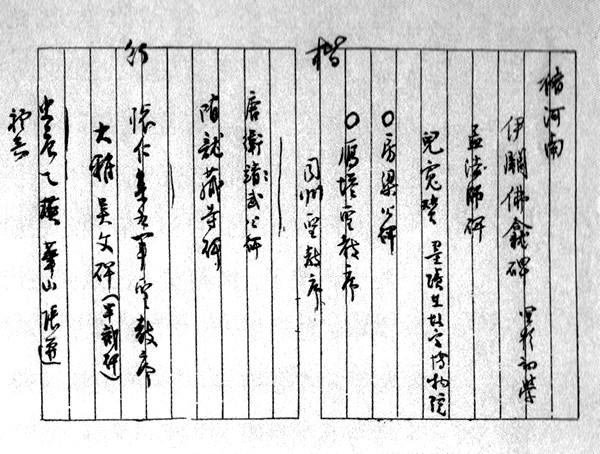 抗战期间,居留重庆的书法大师沈尹默开给女弟子张充和的书法碑帖清单
