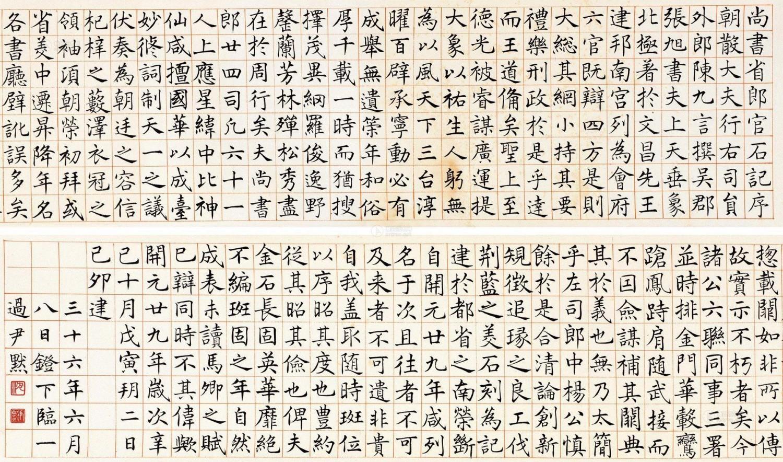 沈尹默 楷书《尚书省郎官石记序》 手卷 1947年作 水墨纸本 上海泓盛2013春季拍卖会