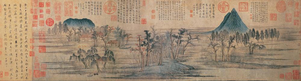 赵孟頫 鹊华秋色图 纸本设色 28.4×93.2厘米 台北故宫博物院藏 裁 缩图2