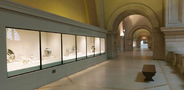 大都会博物馆中国瓷器馆2。图片采集自品米国的博客。