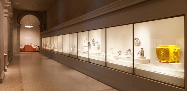 大都会博物馆中国瓷器馆3。图片采集自品米国的博客。