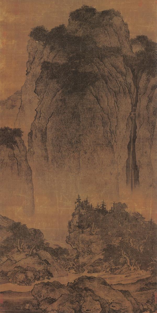 北宋 范宽 溪山行旅图 206.3×103.3cm 绢本水墨 台北故宫博物院藏 缩图