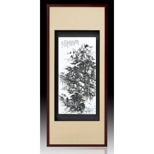 瓷板|焦墨 山水-独家(单件售)