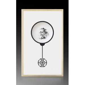 瓷板|焦墨 山水 - 独家