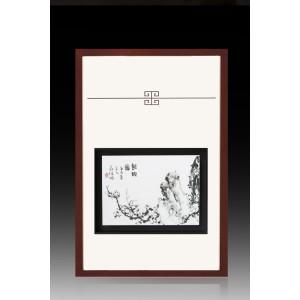 瓷板|焦墨 静韵图 - 独家