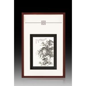 瓷板|焦墨 散氏图 - 独家
