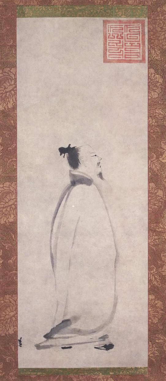 宋 梁楷 太白行吟图 81.1×30.5cm 东京国立博物馆藏 副本2
