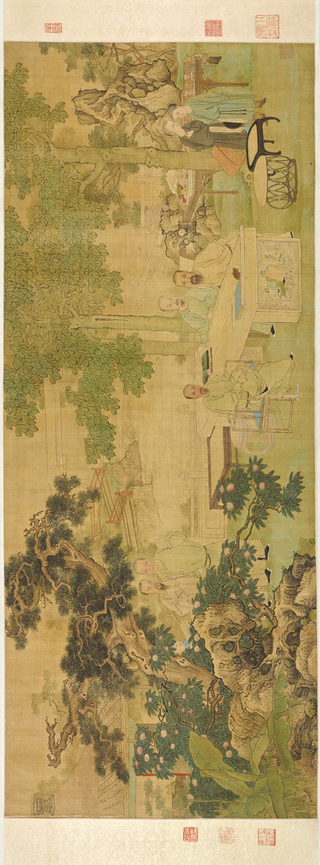 清 禹之鼎 城南雅集图 50.5×126cm via. 东京国立博物馆 副本2 旋转 缩图