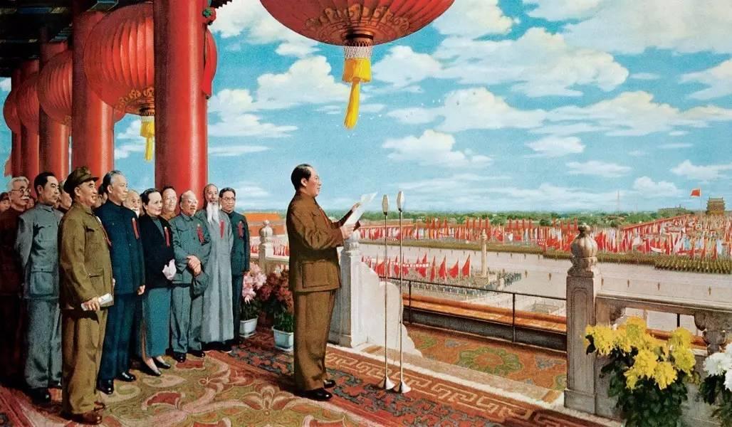 董希文《开国大典》 230400cm 1952年 第一版