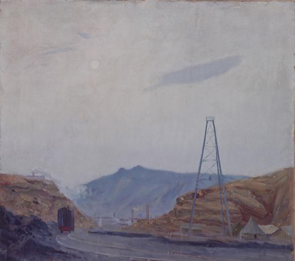 谌北新《薄暮》 120ch×120cm 布面油画 1957年作缩图