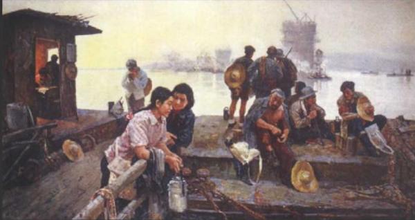 王恤珠《待渡》 布面油画 1957年 副本 缩图