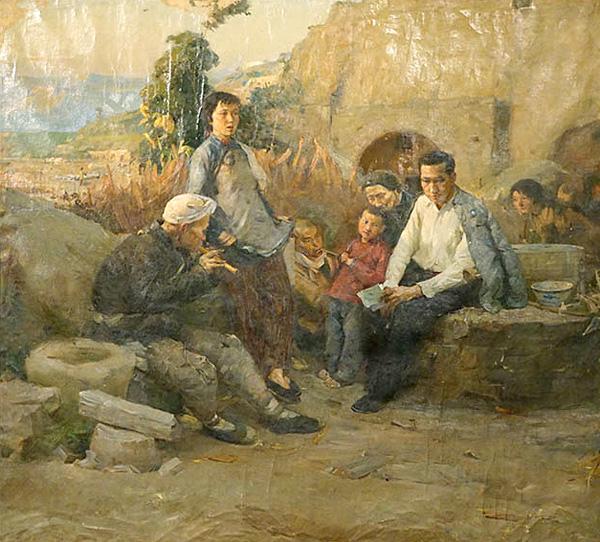 于长拱《冼星海在陕北》 170×180cm 布面油画 1957年 副本 缩图