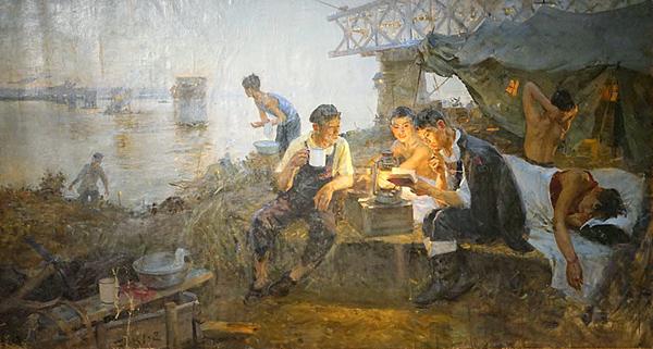 袁浩《长江的黎明》 154cm×283cm 布面油画 1957年 副本 缩图