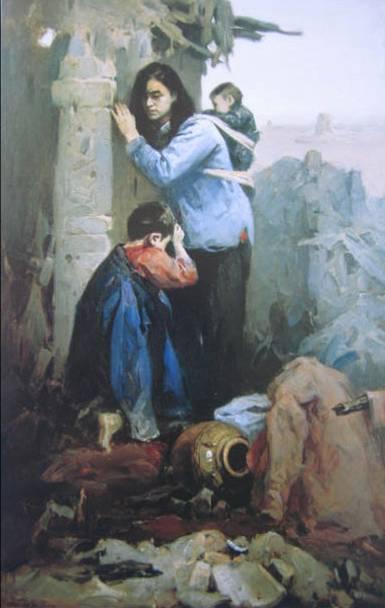 秦征《回家》 布面油画 1957年