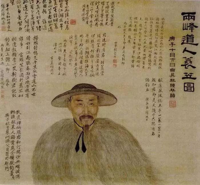 ▲ 罗聘自画像,绢本设色,59.8×56厘米,北京故宫博物院藏