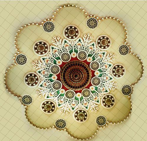 人民大会堂宴会厅天顶灯饰,常沙娜设计 缩图