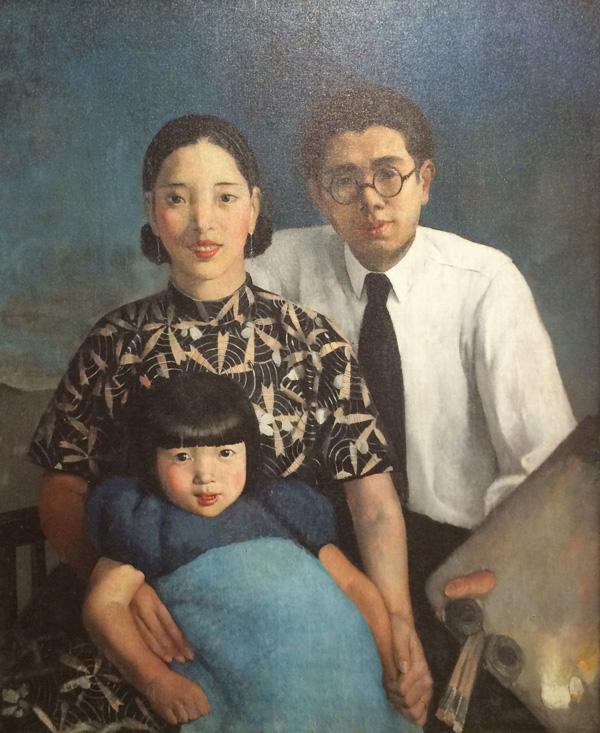 常书鸿 《画家家庭》 1933年 100×81cm 麻布油彩 3 缩图