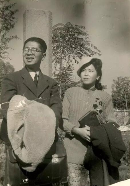 常书鸿与李承仙结婚 图为1947年他们在兰州。副本