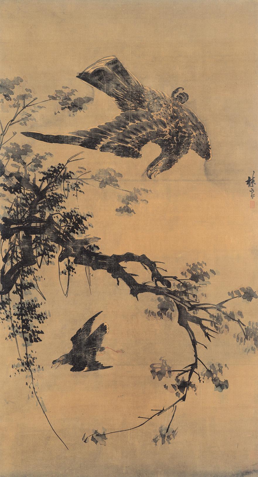明 林良 秋鷹 台北故宫博物院藏(国宝级文物)