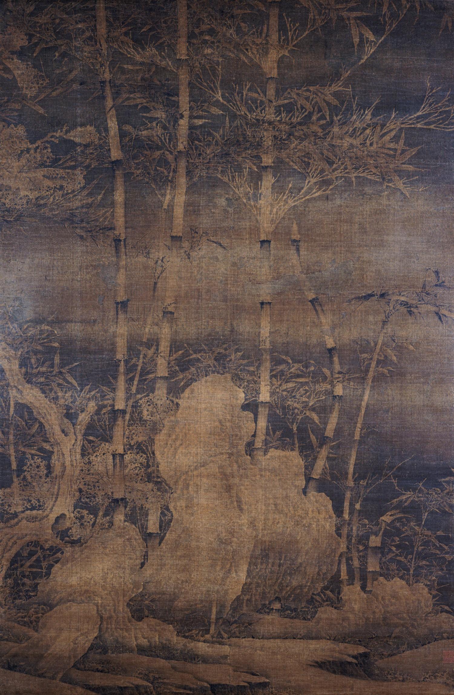 南唐 徐熙雪竹图轴 绢本 纵151.1 厘米 横99.2 厘米 上海博物馆藏