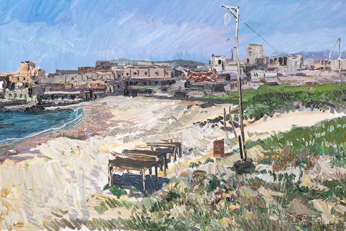 5 王建国 古老的渔村 120×80cm 缩图2