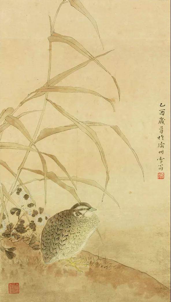 陈之佛 《居安图》 52x29cm  工笔绘画(孙仲山藏)