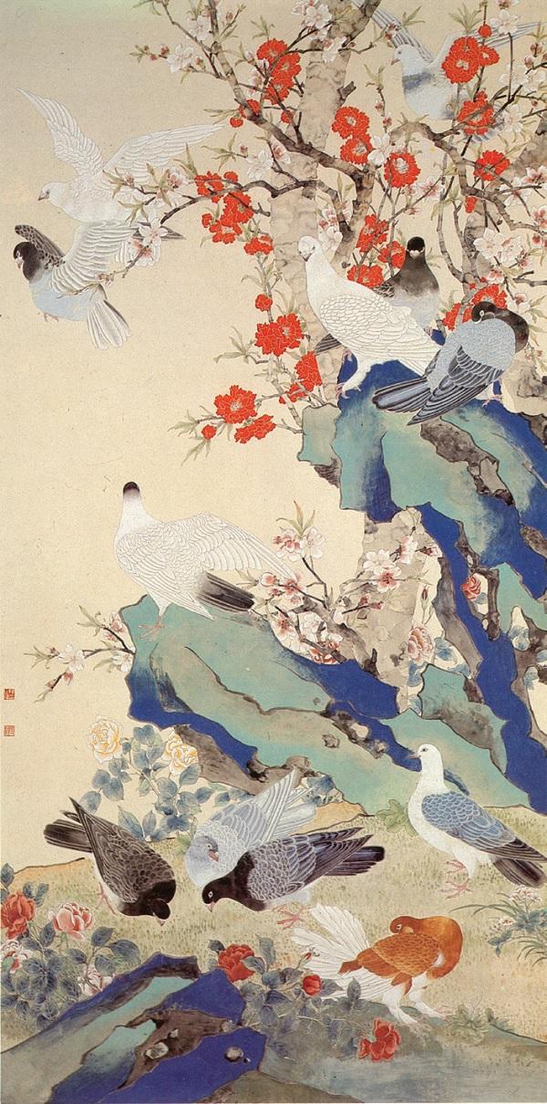 陈之佛创作于1953年的《和平之春》(中国美术馆藏)