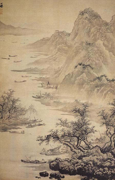 明吴伟的《渔乐图》